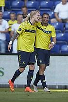 Simon Makienok Christoffersen (Br�ndby IF), Johan Elmander, m�lscorer (Br�ndby IF)