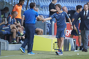 Dougie Freedman, manager (Bolton Wanderers FC), Thomas Frank, cheftr�ner (Br�ndby IF)