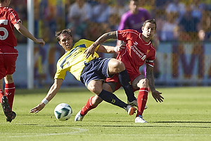Johan Elmander (Br�ndby IF), Daniel Agger (Liverpool FC)