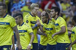 Simon Makienok Christoffersen (Br�ndby IF), Ferhan Hasani, m�lscorer (Br�ndby IF), Dario Dumic (Br�ndby IF)