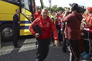 Brendan Rodgers, manager (Liverpool FC) ankommer til Br�ndby Stadion
