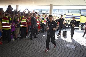 Liverpool FC ankommer til Br�ndby Stadion