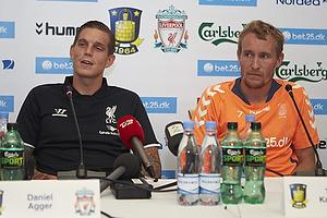 Daniel Agger (Liverpool FC), Thomas Kahlenberg (Br�ndby IF)
