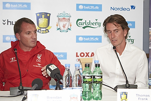 Brendan Rodgers, manager (Liverpool FC), Thomas Frank, cheftr�ner (Br�ndby IF)