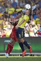 Daniel Agger, anf�rer (Liverpool FC), Martin Albrechtsen (Br�ndby IF)