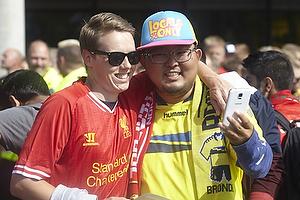 Liverpoolfan og br�ndbyfans