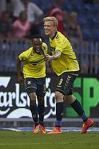 Lebogang Phiri, m�lscorer (Br�ndby IF), Simon Makienok Christoffersen (Br�ndby IF)