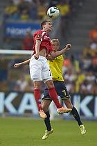 Nicolai Agger (Silkeborg IF), Thomas Kahlenberg, anf�rer (Br�ndby IF)