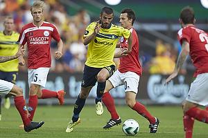 Ferhan Hasani (Br�ndby IF), Jesper Bech (Silkeborg IF)