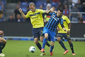 Thomas Kahlenberg, anf�rer (Br�ndby IF), Waldemar Sobota (Club Brugge KV)