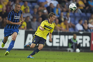 Timmy Simons, anf�rer (Club Brugge KV), Alexander Szymanowski (Br�ndby IF)
