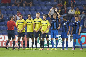 Semb Berge (Br�ndby IF), Dario Dumic (Br�ndby IF), Simon Makienok Christoffersen (Br�ndby IF), Martin �rnskov (Br�ndby IF), Bjorn Engels (Club Brugge KV), Fernando Menegazzo (Club Brugge KV), Oscar Duarte (Club Brugge KV)