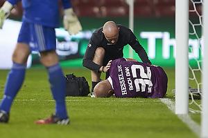 Kristian Bach Bak Nielsen (FC Midtjylland) ligger skadet