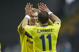 Simon Makienok Christoffersen, m�lscorer (Br�ndby IF), Johan Elmander (Br�ndby IF)