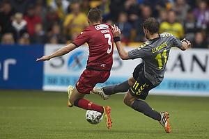 Pascal Gregor (FC Nordsj�lland), Johan Elmander (Br�ndby IF)