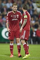 Nicklas Bendtner (Danmark), Daniel Agger, anf�rer (Danmark)