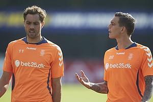 Johan Elmander (Br�ndby IF), Daniel Agger (Br�ndby IF)