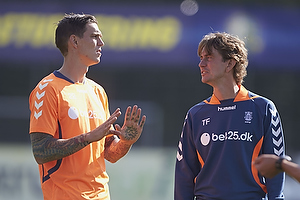 Daniel Agger (Br�ndby IF), Thomas Frank, cheftr�ner (Br�ndby IF)