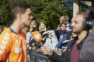 Fans f�lger Daniel Agger (Br�ndby IF)
