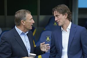 Colin Todd, cheftr�ner (Randers FC), Thomas Frank, cheftr�ner (Br�ndby IF)