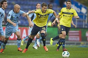 Christian Keller (Randers FC), Holmbert Fridjonsson (Br�ndby IF)