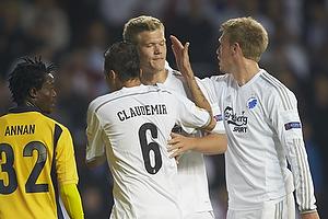 Andreas Cornelius (FC K�benhavn), Claudemir De Souza (FC K�benhavn), Nicolai J�rgensen (FC K�benhavn)