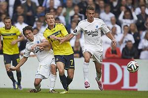 Thomas Delaney, anf�rer (FC K�benhavn), Thomas Kahlenberg (Br�ndby IF), Alex Kacaniklic (FC K�benhavn)
