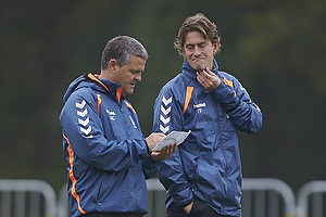 Albert Capellas, f�rsteassistent (Br�ndby IF), Thomas Frank, cheftr�ner (Br�ndby IF)