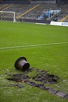Regvand p� Br�ndby Stadion