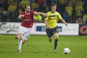 Peter Nymann (FC Vestsj�lland), Alexander Szymanowski (Br�ndby IF)