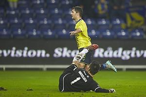 Riza Durmisi, m�lscorer (Br�ndby IF), Thomas Mikkelsen (FC Vestsj�lland)