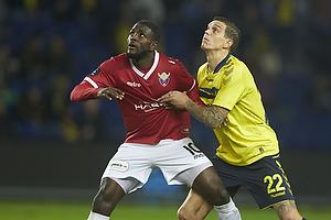 Joel Tshibamba (FC Vestsj�lland), Daniel Agger (Br�ndby IF)