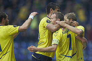 Thomas Kahlenberg, anf�rer, m�lscorer (Br�ndby IF), Dario Dumic (Br�ndby IF), Teemu Pukki (Br�ndby IF)