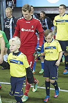 Thomas Kahlenberg, anf�rer (Br�ndby IF), Lukas Hradecky (Br�ndby IF)