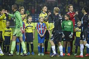 Teemu Pukki (Br�ndby IF), Daniel Agger (Br�ndby IF), Lukas Hradecky (Br�ndby IF)