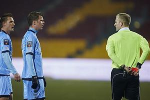 Kasper Fisker (Randers FC), Nicolai Poulsen (Randers FC), Dennis Mogensen, dommer