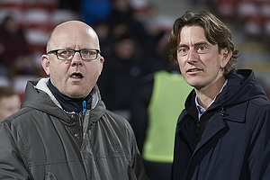 Thomas Frank, cheftr�ner (Br�ndby IF), Per Rud, sportschef (Br�ndby IF)