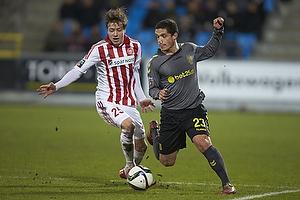 Patrick Da Silva (Br�ndby IF), Frederik B�rsting (Aab)