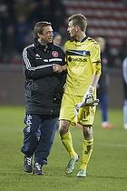 Lukas Hradecky (Br�ndby IF), Allan Kuhn, assistenttr�ner (Aab)