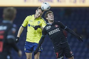 Thomas Kahlenberg, anf�rer (Br�ndby IF), Jakob Poulsen (FC Midtjylland)