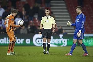 Nicolai Poulsen (Randers FC), Anders Poulsen, dommer, Stephan Andersen (FC K�benhavn)