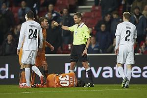 Anders Poulsen, dommer, Djiby Fall (Randers FC)