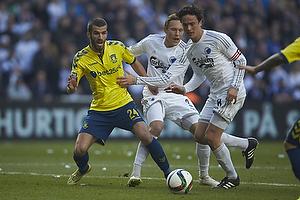 Ferhan Hasani (Br�ndby IF), Thomas Delaney, anf�rer (FC K�benhavn)