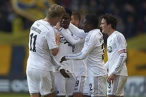 Daniel Amartey, m�lscorer (FC K�benhavn), Andreas Cornelius (FC K�benhavn), Danny Amankwaa (FC K�benhavn)