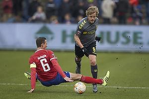 Teemu Pukki (Br�ndby IF), Henrik Madsen, anf�rer (FC Vestsj�lland)