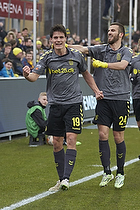 Christian N�rgaard, m�lscorer (Br�ndby IF), Ferhan Hasani (Br�ndby IF)