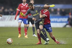 Ferhan Hasani (Br�ndby IF), Marc Dal Hende (FC Vestsj�lland)