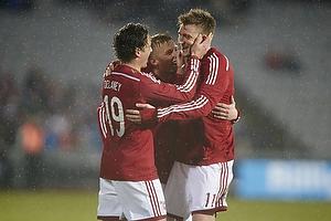 Nicklas Bendtner, m�lscorer (Danmark), Thomas Delaney (Danmark)