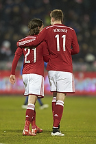 Lasse Vibe (Danmark), Nicklas Bendtner, m�lscorer (Danmark)