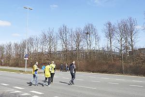 Br�ndbyfans p�vej til Br�ndby Stadion